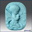 Silicone Soap Mold -  Praying Angel – boy