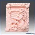 2D Silicone Soap Mold– Musical Mermaid