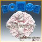 2D Silicone Soap/sugar/fondant/chocolate Mold-Fairy Flora in her blooming garden