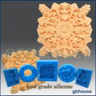 Food Grade Silicone Soap Mold – Shell and Leaf Rosette