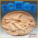 2D Silicone Soap/sugar/fondant/chocolate Mold - Halloween Witch, Cat and Mouse