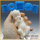 3D Silicone Soap/sugar/fondant/chocolat Mold-Lifelike Baby Gino -free shipping