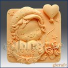 2D Silicone Soap Mold – Hearts & Roses – Boy