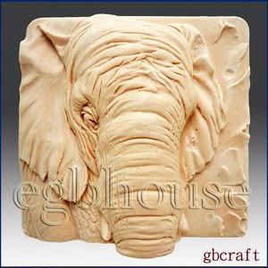 2D Silicone Soap Mold - Elephant close up -FREE SHIPPING(BuyFrom Original maker)