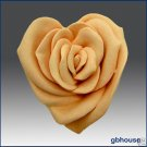 Silicone Soap Mold – Rose Heart  (2 parts - assembled)