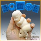 3D Silicone Soap/sugar/fondant/chocolat Mold-Lifelike Baby Aiden-free shipping