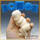 3D Silicone Soap/sugar/fondant/chocolat Mold-Lifelike Baby Aiden-free shipping