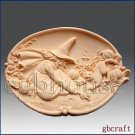 2D Silicone Soap Mold - Halloween Witch, Cat and Mouse - Free Shipping