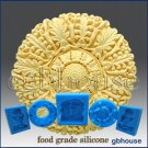 Silicone Chocolate / food grade Mold - Round Rosette-2
