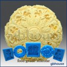 Silicone Chocolate/food grade Mold Round Rosette