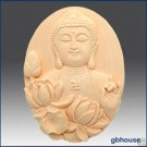 Silicone Soap Mold –Buddha with Lotus – Oval