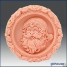 2D Silicone Soap Mold - Santa Medallion