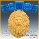 2D Silicone Soap/sugar/fondant/chocolate Mold- Roaring Lion King - Free Shipping
