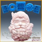 2D Silicone Soap/sugar/fondant/chocolate Mold-Santa Plaque - Freeshipping