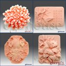 2D/3D Soap/Candle silicone mold-Garden series 1