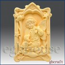 2D Cancer Pray Angel of Compassion Silicone Mold w/lamb
