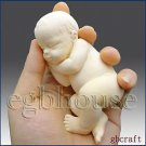Lifelike Baby Aiden(2 parts assembled mold) - 3D Silicone Soap/Polymer caly Mold