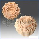 3D silicone Soap/polymer/cold porcelain/candle mold - Cup Cake with icing Top