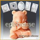 3D Silicone sugar/fondant/chocolate/food craft Mold – Panda (2 parts assembled)