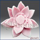 3D silicone Soap/Guest/polymer/clay/cold porcelain/candle mold-charming Lotus