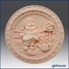 Santa in the Garden - Soap/polymer/clay/cold porcelain 2D silicone mold