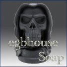 "Soap - ""3D Ghostly Skeleton"" handmade Scented Bamboo Charcoal soap"