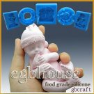 3D Silicone sugar/fondant/chocolate Mold-Lifelike Baby Dell(2 parts assembled)
