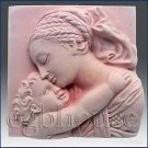 Dreaming Mother and Child - 2D Silicone Soap/plaster/clay/cold porcelain Mold