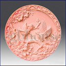 2D silicone Soap/polymer/clay/cold porcelain mold -  Three Birds on Bough