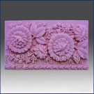 2D silicone Soap/polym​er/clay/co​ld porcelain mold – Flowers Galore