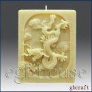 3D Dragon Pillar Candle Silicone Mold