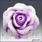 3D Silicone Soap/plaster/clay Mold-Lovely Rose (2 parts assembled mold)