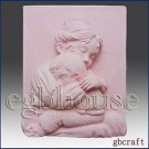 2D silicone Soap/polymer/clay/cold porcelain mold- Mother Cradle Her Child