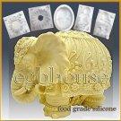 3D Silicone sugar/fondant/chocolate/food craft Mold - Festive Elephant