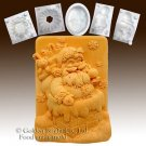 Santa in the Chimney - silicone Soap/sugar/fondant/chocolate/Marzipan 2D mold