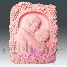2D silicone Soap/polymer/clay/cold porcelain mold – A Kiss to Remember