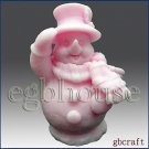 3D silicone Soap/polymer/clay/cold porcelain mold-Top O' the Morning Snowman