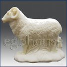 3D silicone Soap/polymer/clay/cold porcelain/candle mold- Goat