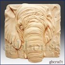 Elephant close up -Detail of high relief sculpture - Soap/plaster silicone mold