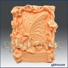 2D silicone Soap/polymer/clay/cold porcelain mold – Garden Butterfly