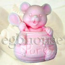 2D silicone Soap/polymer/clay/cold porcelain mold - Country Mouse in Honey Jar