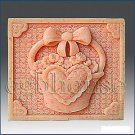 2D silicone Soap/polymer/clay/cold porcelain mold - Stitch Quilt