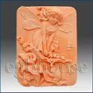 2D silicone Soap/polymer/cold porcelain mold – Cathy Fairy of the Calla Lilies