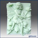 2D silicone Soap/polymer/cold porcelain mold–Melinda, Fairy of the Maple Trees