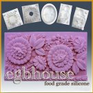 Flowers Galore -  silicone Soap/sugar/fondant/chocolate/Marzipan 2D mold