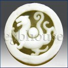 2D silicone Soap/polymer/clay/cold porcelain mold - Tigar - Feng Shui design