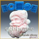 2D FDA Silicone Soap/sugar/fondant mold -Joy Santa- buy from original designer
