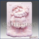 2D Silicone Soap Mold - Snowflake Santa - buy from original designer and maker