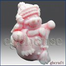 3D Silicone Soap Mold-Snowman holding Broom - buy from original designer n maker