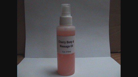Cherry Body And Massage Oil- 5 oz.